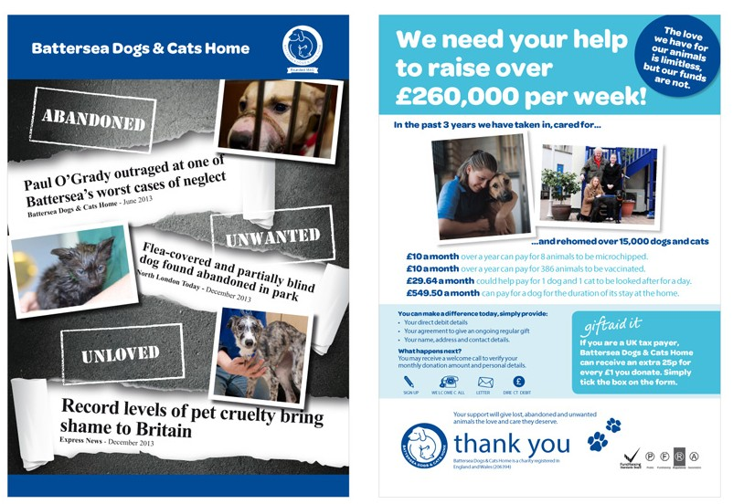 Marketing material service for RSPCA