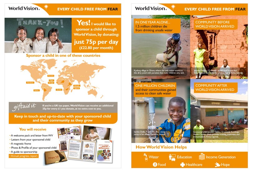 Print design for World Vision