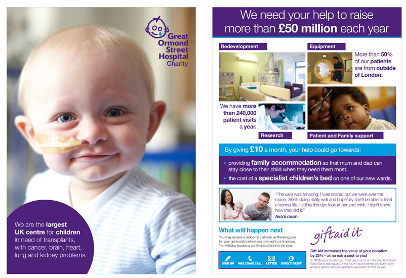 Poster design High Barnet, Great Ormond Street Hospital project