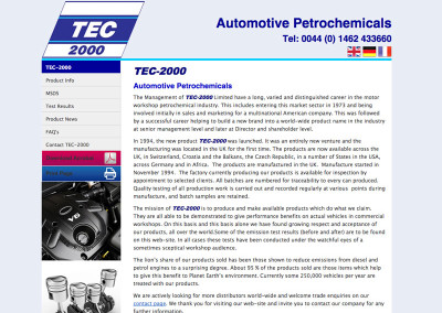 Web Design Hitchin Herts Automotive Petrochemical