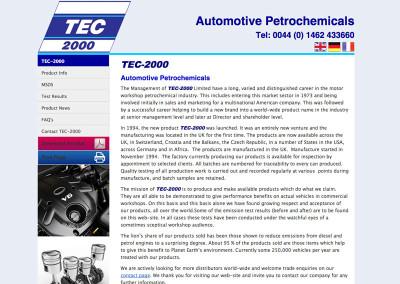 Web Design Hitchin Herts Automotive Petrochemical