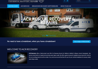 Web Design Watford car breakdown