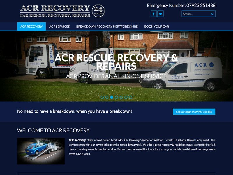 Web Design Watford, ACR Recovery