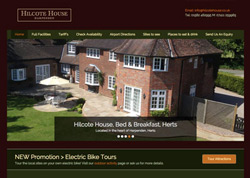 Web Design Harpenden Herts bed & breakfast