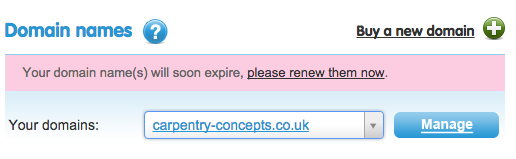 webdesign north london dns settings