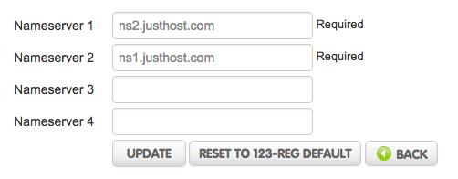 webdesign north London Nameserver settings