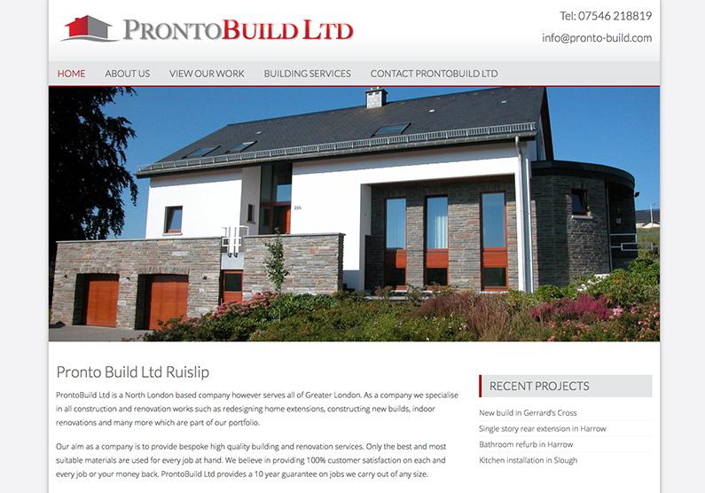 Web Design Ruislip Builders North London
