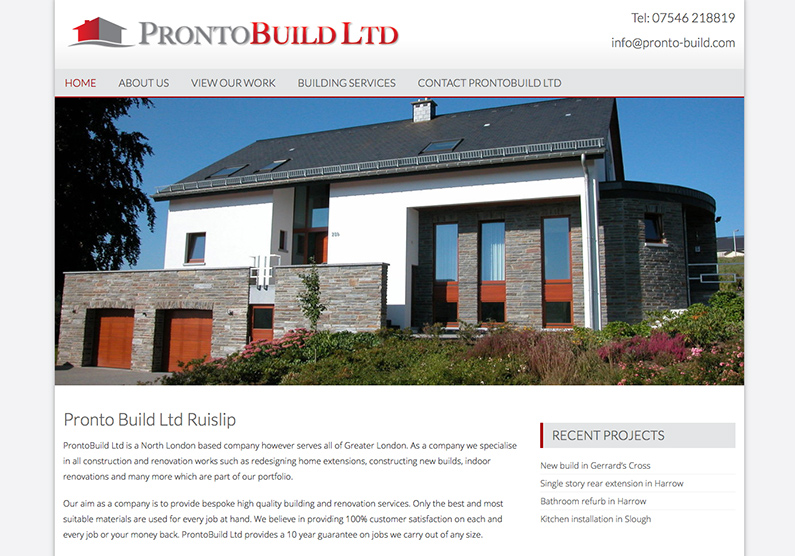 Web Design Ruislip Builders North London