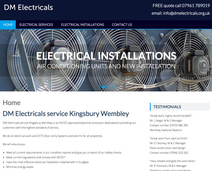 Responsive website design Kingsbury