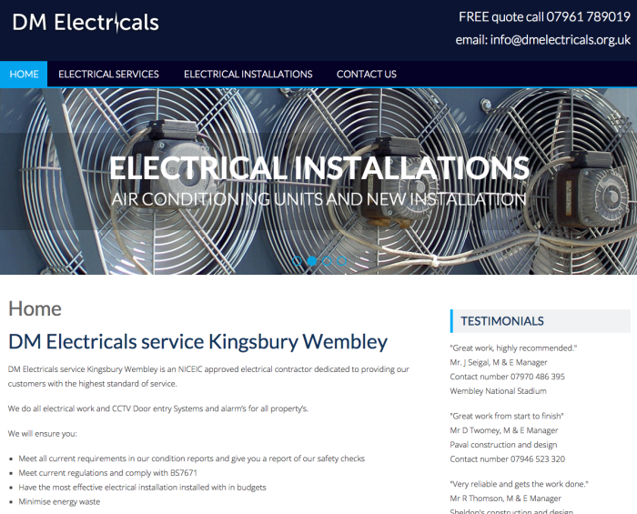 Responsive website design Kingsbury