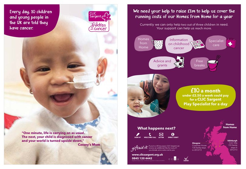 Advertising for CLIC Sargent