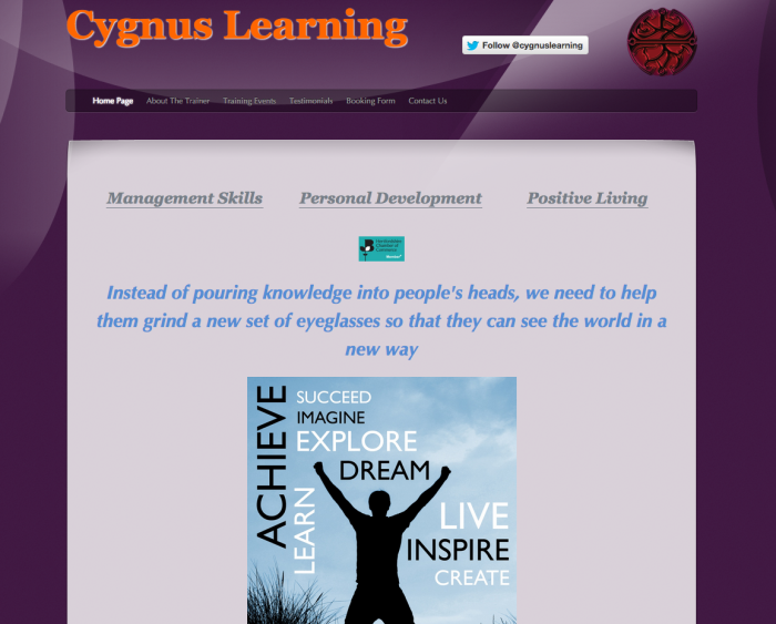 Website Design Stevenage, Cygnus Learning
