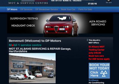 Web Design St Albans Car Garage