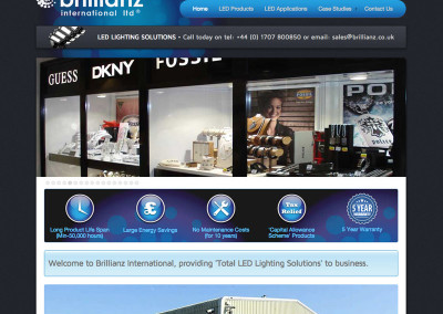 Web Design Welwyn Herts led lighting